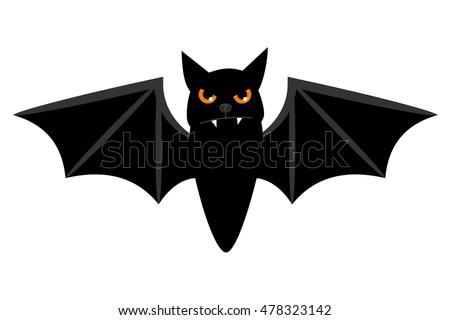 halloween flying bat isolated