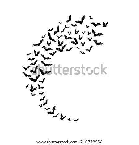 stock-vector-halloween-flying-bats-decoration-element-from-scattered-silhouettes-half-moon-shape-track