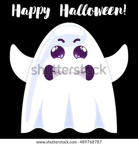 halloween funny cartoon ghost