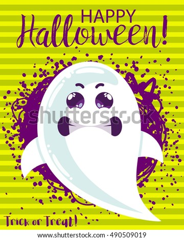 halloween funny cartoon ghost
