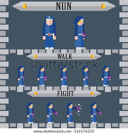 halloween game character for design nun