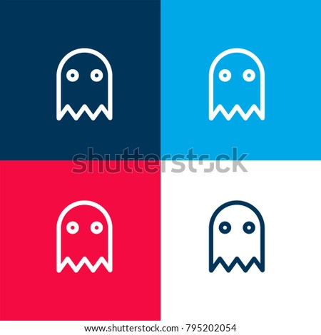 halloween ghost four color