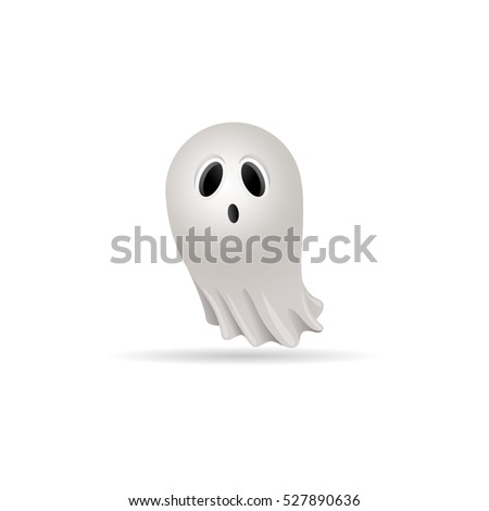 halloween ghost icon in color
