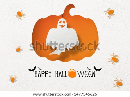 halloween ghost on holes in