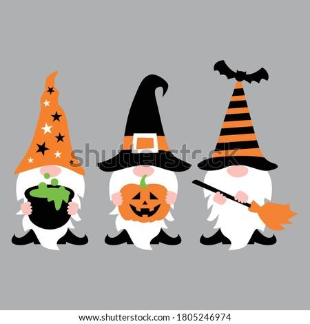 Halloween Gnome t shirt design vector