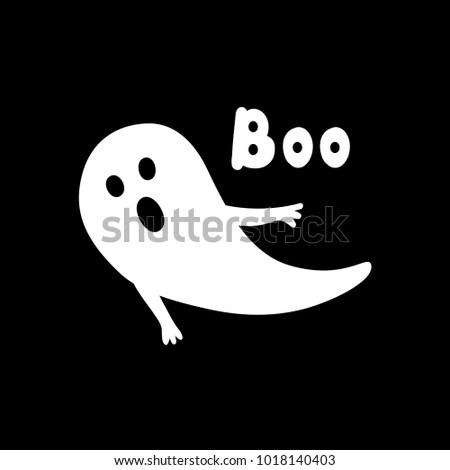 halloween greeting card ghost