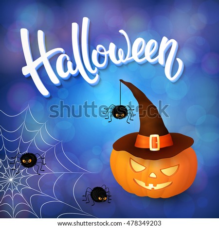 halloween greeting card with