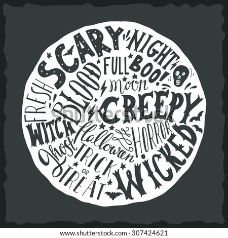 halloween hand lettering on the