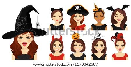 halloween headbands and hat