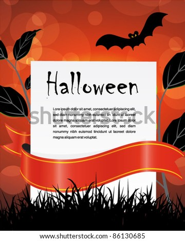 halloween holiday party poster and banner
