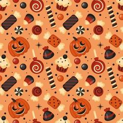 Halloween holiday seamless pattern background. Vector illustration