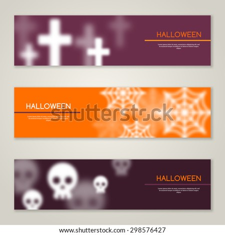 halloween horizontal banners or