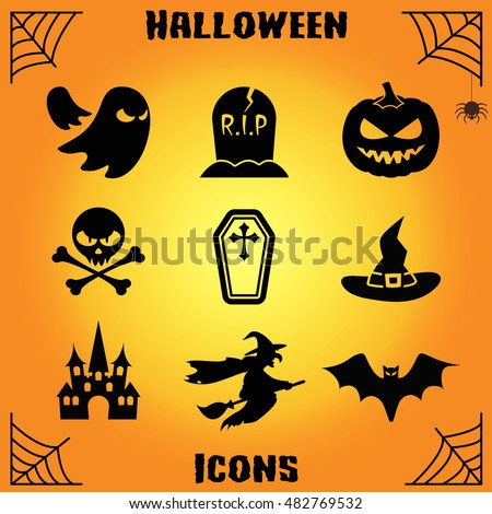 Halloween icon, Halloween icon vector, Halloween icon symbols