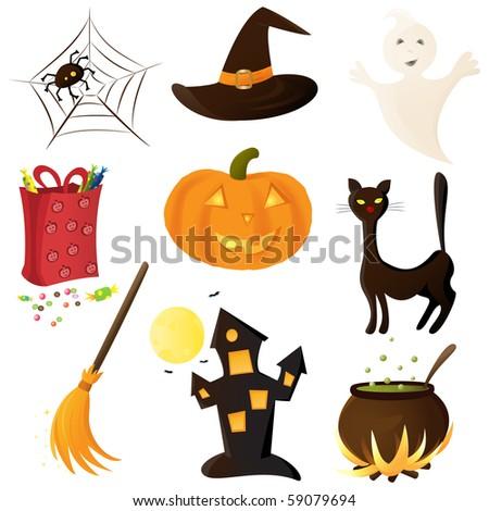 Halloween icon set (vector version)