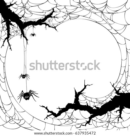 Halloween icon. Silhouette of  spider web .Halloween backgrund symbol and element.Cobweb.