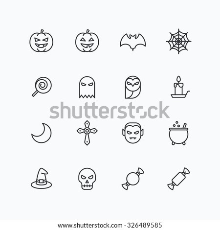 halloween icons for web and
