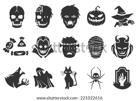 halloween icons   illustratiion