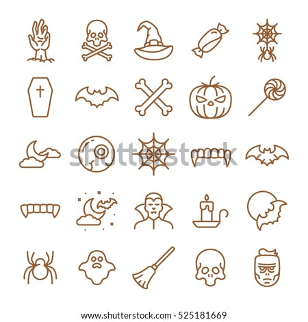 halloween icons minimalistic