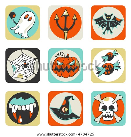 Halloween icons - others of same series : http://www.shutterstock.com/lightboxes.mhtml?lightbox_id=499006