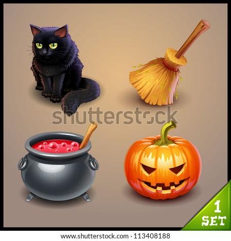 halloween icons-set 1