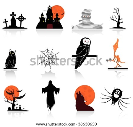 halloween icons set 2,easy to edit or to re size,the shadow and the icons are set on a different layer
