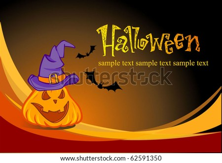 Halloween illustration for banners and invite cards