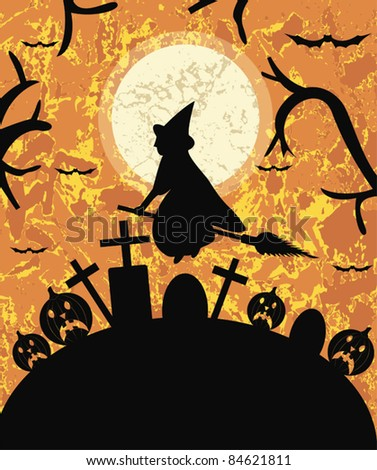 Halloween Illustration  for  invite cards