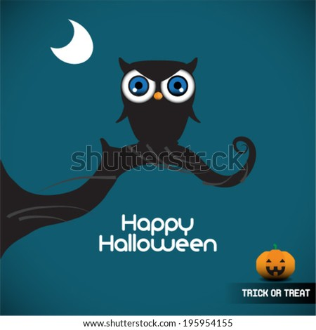 halloween illustration owl