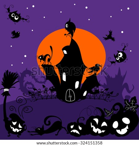 halloween illustration with