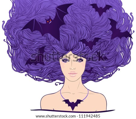 halloween illustration  young