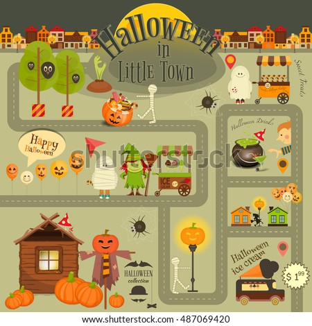halloween in town   infographic