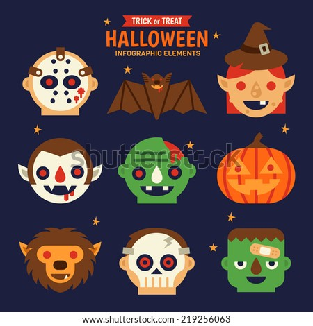 halloween infographic elements