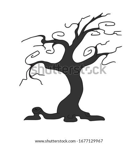halloweenintimidating tree