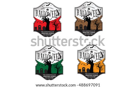 halloween invitation card