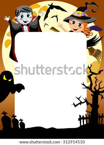 halloween kids frame