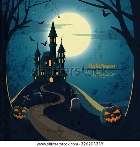 halloween landscape  with