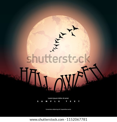 Halloween Layout/Design Cover. Modern and Abstract Background. Stock Vector Illustration. Minimalist Creative Design Concept.
