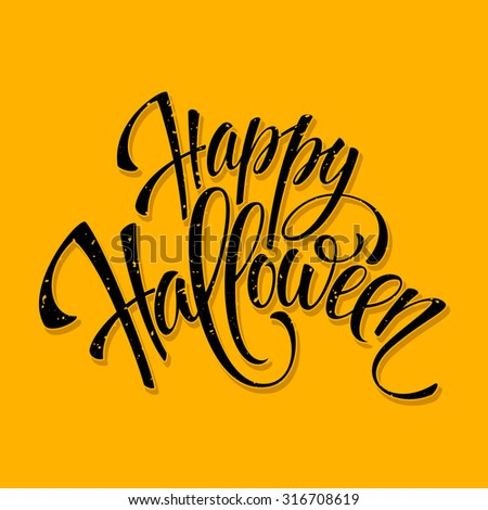 halloween lettering greeting