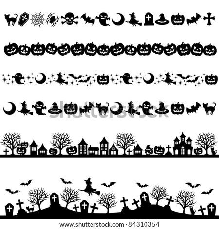 Halloween line decoration