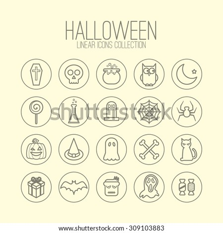 halloween linear icons