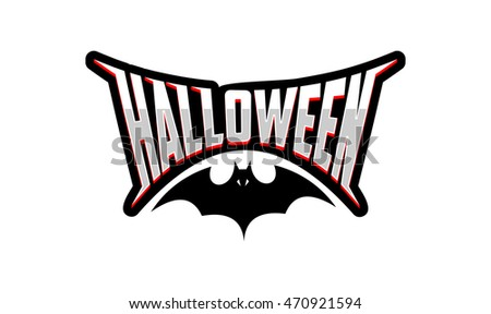 Halloween logo, emblem, icon, badge vector.