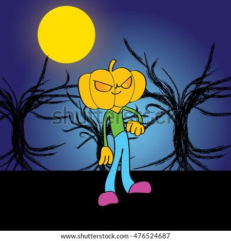 halloween man in the nightmare
