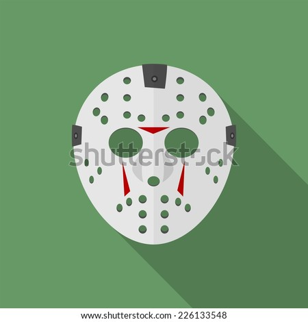 halloween mask flat icon with