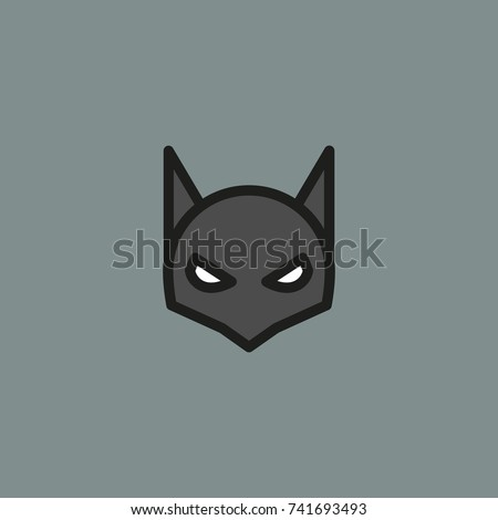 halloween mask vector line
