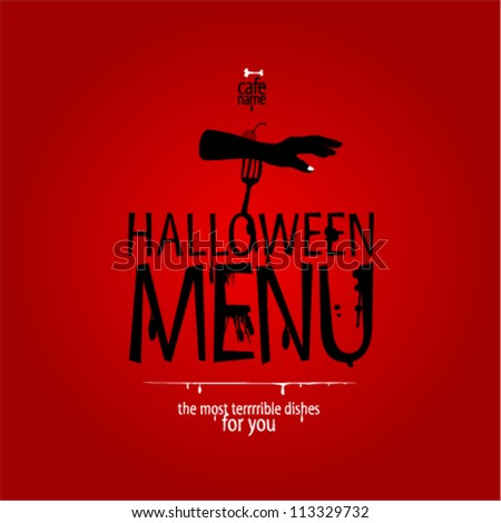 Halloween Menu Card Design template.