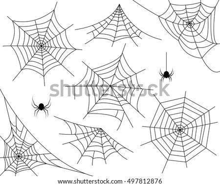 halloween monochrome spider web