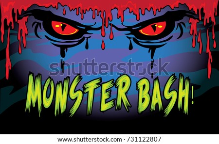 halloween monster bash sign