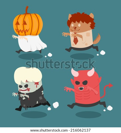 halloween monster costume set 2