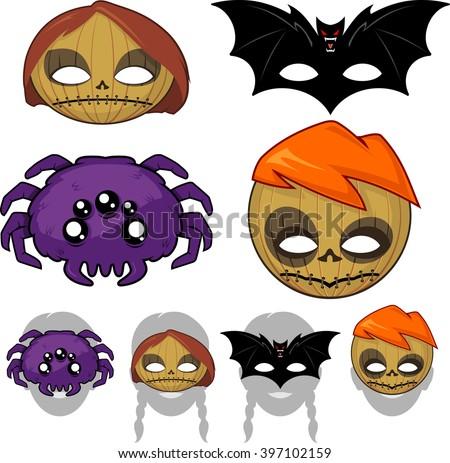 Halloween Mask Vectors - Download Free Vector Art, Stock Graphics ...