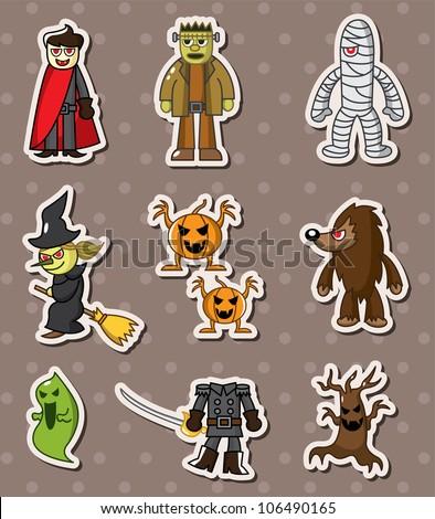 halloween monster sitckers